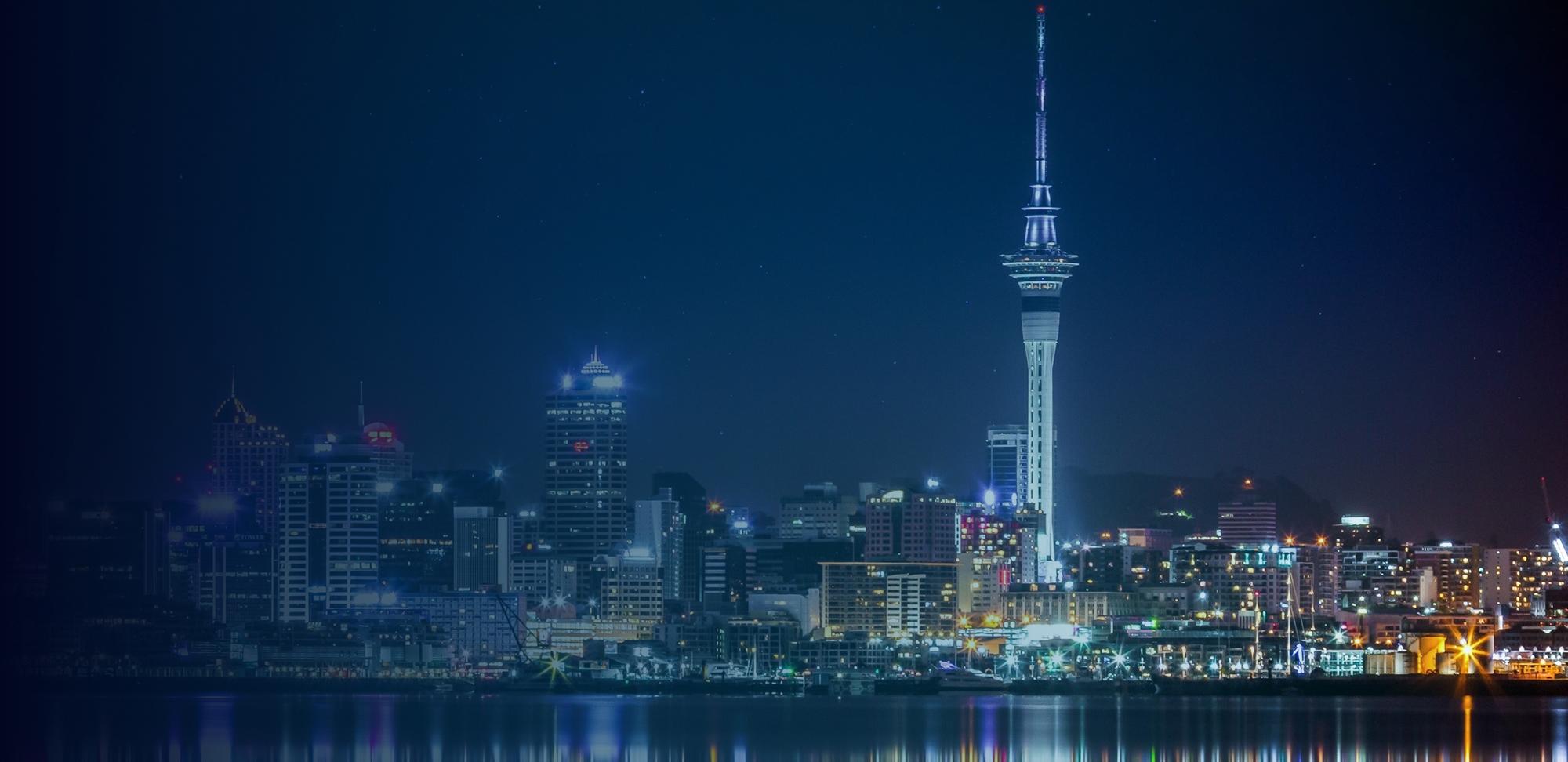 Auckland night cityscape